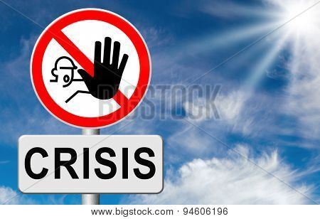 stop crisis recession and inflation economic and bank downfall stock market crash  poster
