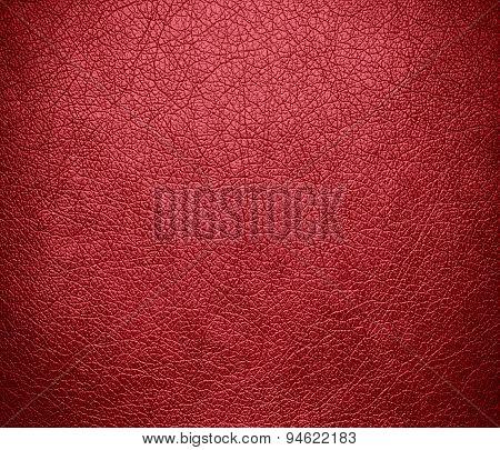 Dark terra cotta leather texture background