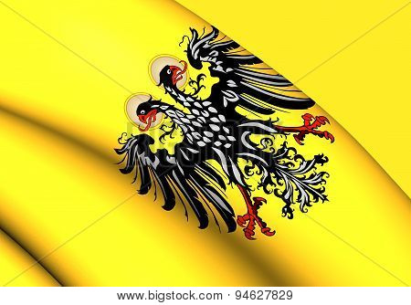 3D Flag of Holy Roman Empire (1400-1806). Close Up. poster