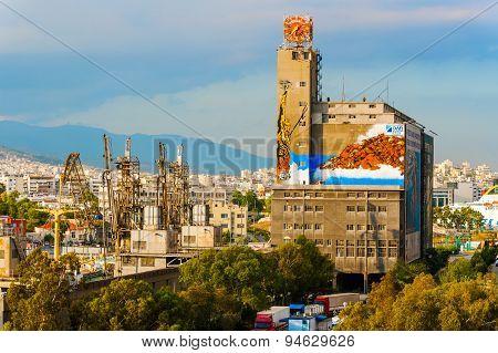 Port In Piraeus Greece.
