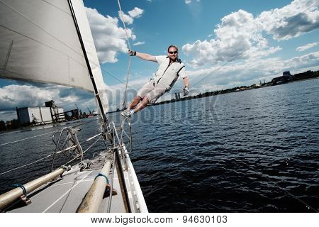 Captain on a yacht during race