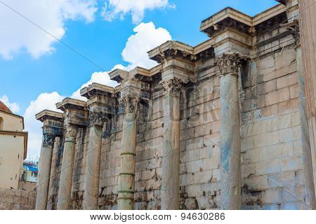 Hadrian's Library In Athens, Greece