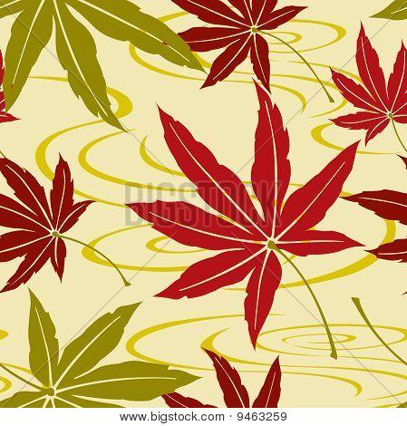 Seamless Japanese Maple Leaf Pattern