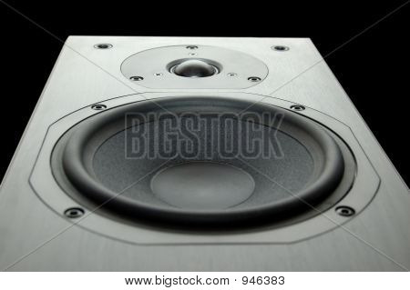Wooden Speaker With White Background
