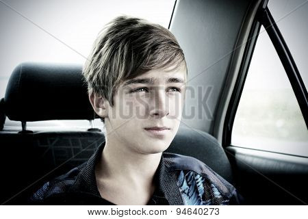 Teenager In A Car