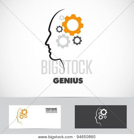 Genius Working Mind Gear Logo