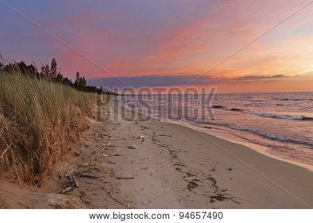 Sunset On A Lake Huron Beach