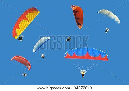 Colorful paramotor