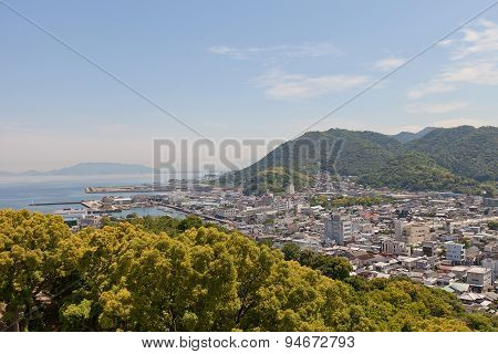 View Of Kawanoe Town, Shikokuchuo City, Japan