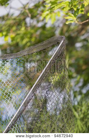 a net for fisherman on the river