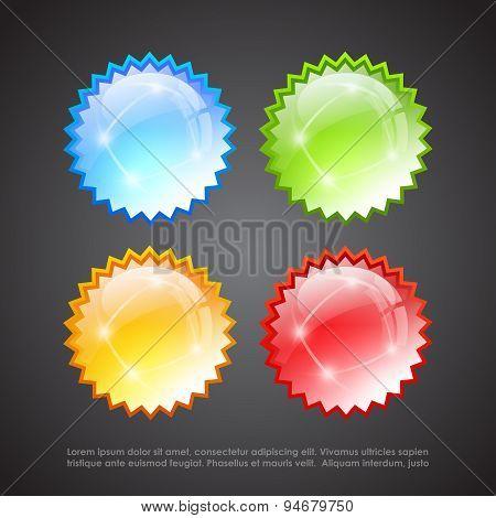 Burst glass stars