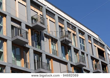 modern residential building facade, berlin
