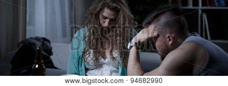 Drunk Wife And Husband