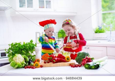 Kids Cooking Healthy Vegetarian Lunch