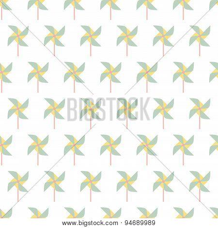 Colorful Pinwheel Seamless Pattern