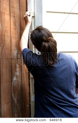Woman Painting 1