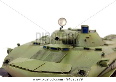 Muzzle of airborne combat vehicle looking at the camera poster