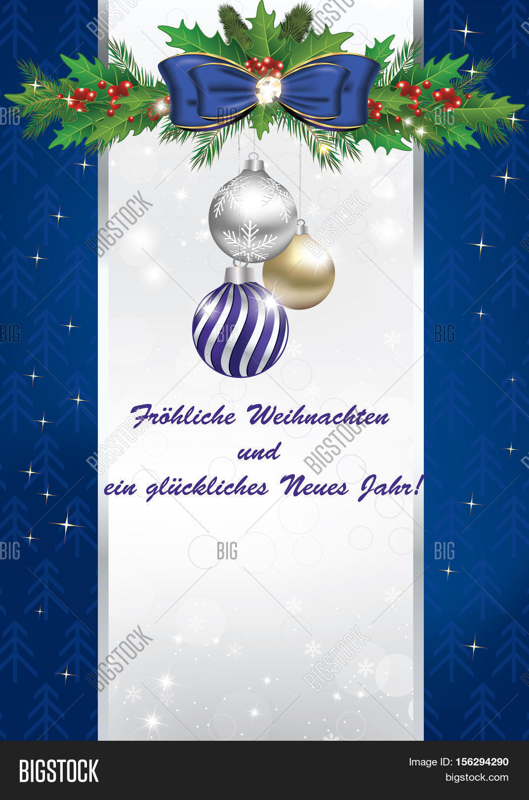 Blue Winter Holidays Image Photo Free Trial Bigstock