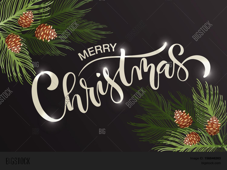 Merry Christmas Happy Vector Photo Free Trial Bigstock