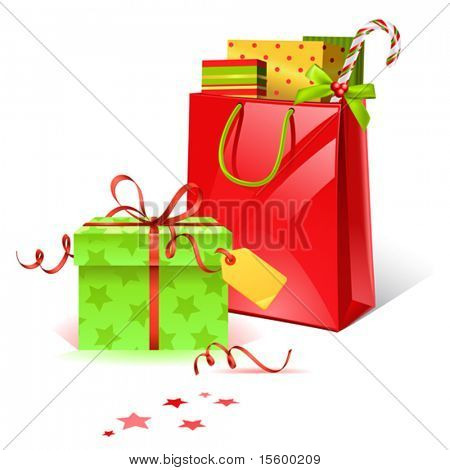 vector christmas presents