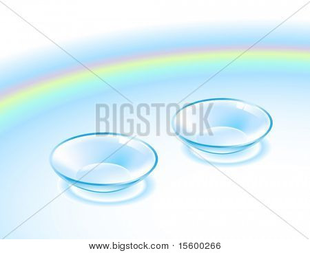 vector illustration of contact lenses