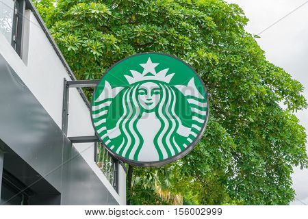 Chiang Mai, THAILAND - July 15, 2016: Starbucks Coffee. Starbucks is the largest coffeehouse company in the world, with 20,891 stores in 62 countries.
