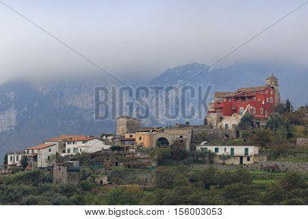 beautiful scenic in ravello italy mediterranean coastal