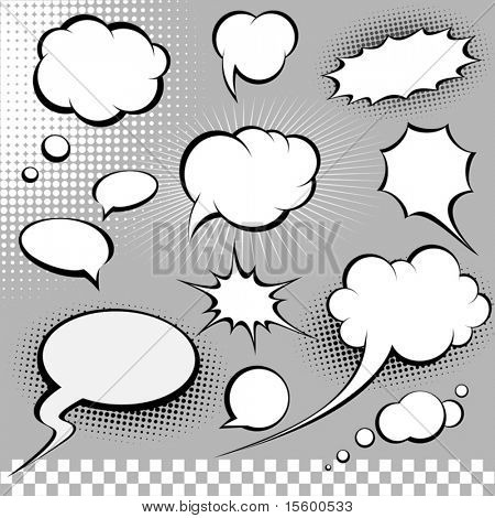 comic speech bubbles poster
