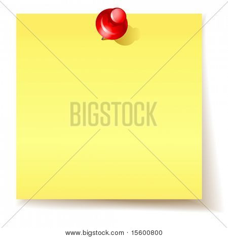 vector yellow sticky  paper
