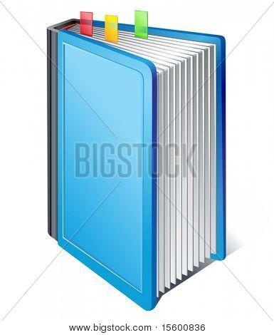 vector blue book icon