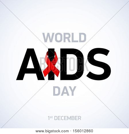 AIDS awareness. World AIDS Day, 1st December. Vector illustration.