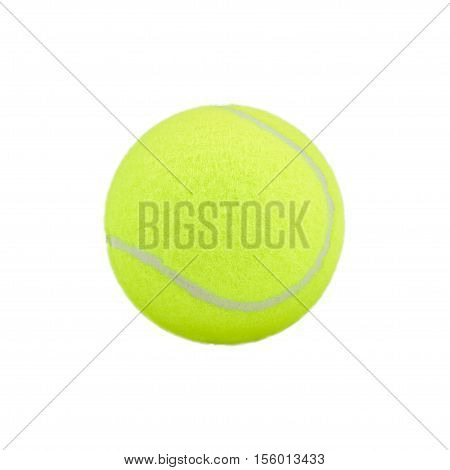 tennis ball on white background. tennis ball isolated. Tennis ball green color, tennis sport. tennis concept, single tennis ball