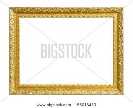 Gold Frame. Gold/gilded Arts And Crafts Pattern Picture Frame.