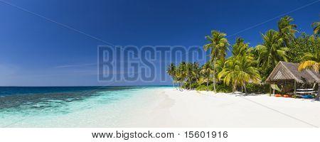 Panorama of tropical island  resort at daylight