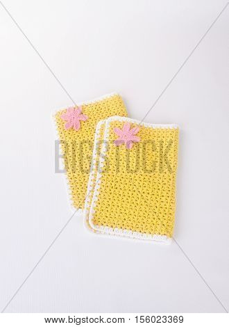 Table Mat Or Lace Place Mat On Background.