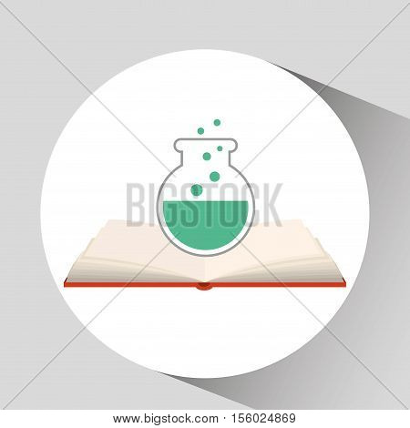 book open test tube concept school graphic vector illustration eps 10