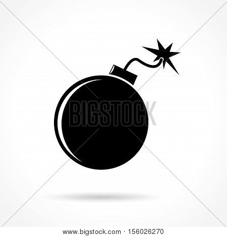 Illustration of bomb icon on white background
