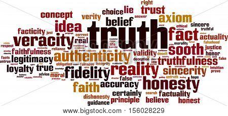 Truth word cloud concept. Vector illustration on white