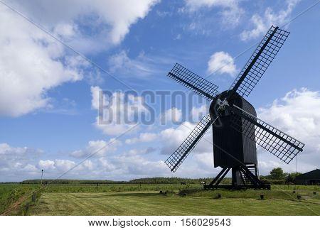 Standerd mill Ter Haar near Ter Apel in the Dutch province Groningen
