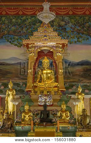 New ancient Buddha in Temple of Thailand