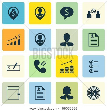 Set Of Human Resources Icons On Job Applicants, Pin Employee And Female Application Topics. Editable
