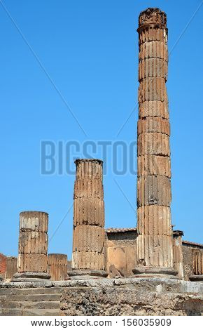 Ancient Roman city of Pompeii, Campania region, Italy.