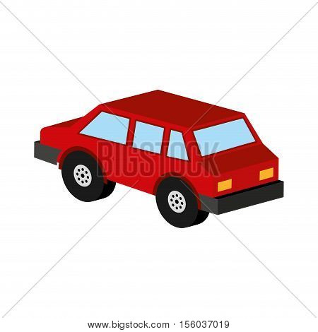 red car coupe icon design vector illustration eps 10