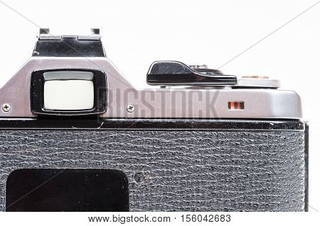 The Back View Of An Old And Dusty Camera