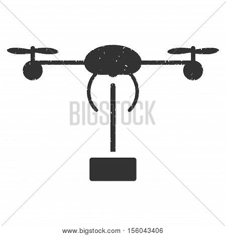 Copter Shipment rubber seal stamp watermark. Icon vector symbol with grunge design and dirty texture. Scratched gray ink sign on a white background.