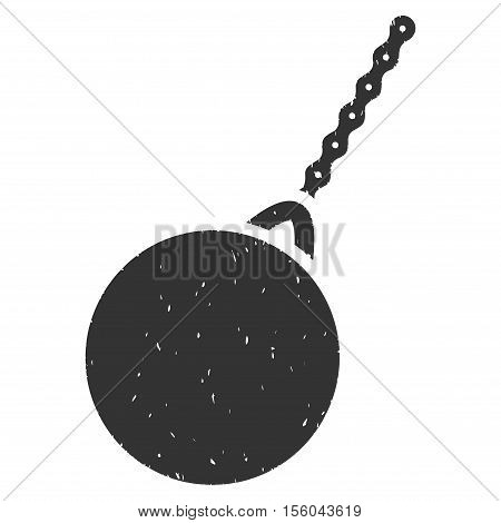 Destruction Hammer rubber seal stamp watermark. Icon vector symbol with grunge design and dust texture. Scratched gray ink sticker on a white background.