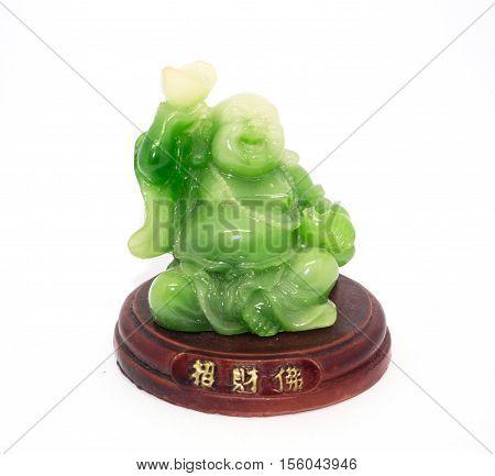 Phra sangkatchai green jade and wood little