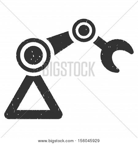 Manipulator rubber seal stamp watermark. Icon vector symbol with grunge design and unclean texture. Scratched gray ink emblem on a white background.