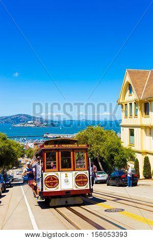 San Francisco Cable Car View Hill Climb Alcatraz V