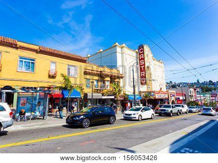 San Francisco Castro Street Shops Theater